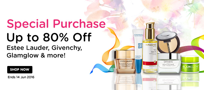 Special purchase up to 80% off on top brands like Estee Lauder, Dr. Hauschka, Elizabeth Arden, Givenchy, SK II and more at StrawberryNET.