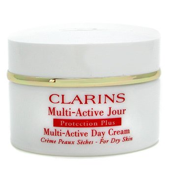 Clarins-Protection Plus Multi-Active Day Cream - For Dry Skin