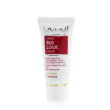 GuinotRed Logic Face Cream For Reddened Reactive Skin 30ml 1.03oz