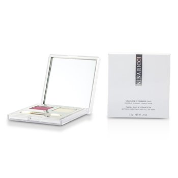 Nina Ricci-Plush Duo Eyeshadow - # 04 Pourpre De Velours/Argente