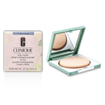 Clinique-Stay Matte Powder Oil Free - No. 11 Stay Brandy