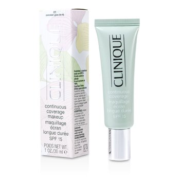 CliniqueContinuous Coverage Spf15 - No. 01 Porcelain Glow 30ml/1oz