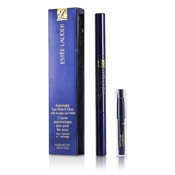 Estee Lauder Automatic Eye Pencil Duo W/Smudger & Refill - 17 Charcoal 0.2g/0.01oz