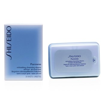 ShiseidoPureness erfrischendes reinigendes  Tuch 30pcs