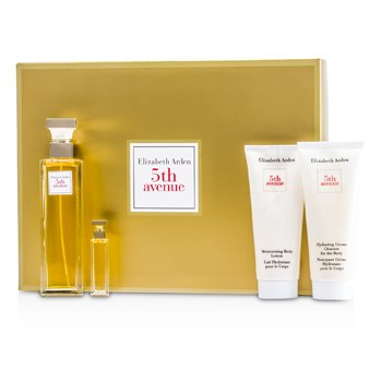 Elizabeth Arden5th Avenue Coffret: Eau De Parfum Spray 75ml/2.5oz + Body Lotion 100ml/3.3oz + Body Cleanser 100ml/3.3oz + Parfum 3.7ml/0.12oz 4pcs