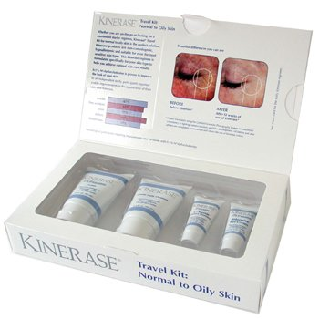 Kinerase-N/O Skin Travel Kit: Cleanser 40ml + Lotion 40g + Eye Crm 7g + C6 Peptide 7ml