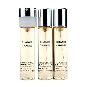 Chanel Chance Twist & Spray Eau De Toilette Refill  3x20ml/0.7oz