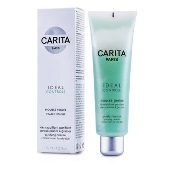 Carita-Ideal Controle Pearly Mousse ( Combination to Oily Skin )