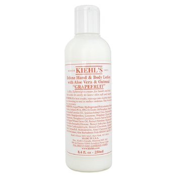 Kiehl`s Deluxe Hand & Body Lotion With Aloe Vera & Oatmeal - Grapefruit 250ml/8.4oz