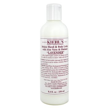 Kiehl`s Deluxe Hand & Body Lotion With Aloe Vera & Oatmeal - Lavander 250ml/8.4oz