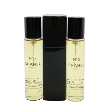 ChanelNo.5 Eau De Toilette Purse Spray And 2 Refil (Edi��o limitada ) 3x20ml/0.7oz