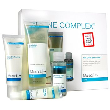 Acne Complex Kit: Cleanser 125ml+ Exfoliating Gel 50ml+ Lotion 50ml+ Spot Treatment 4pcs