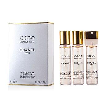 Chanel Coco Mademoiselle Туалетная Вода Спрей Запасной Блок 3x20ml/0.7oz