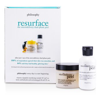 PhilosophyThe Microdelivery Peel: Lactic/Salicylic Acid Activation Gel + Vitamin C Resurfacing Crystal 2pcs