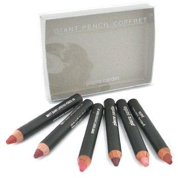 Pierre Cardin Beaute-Giant Pencil Coffret: 3x Matt Giant Lipstick Pencil + 3x Shiny Giant Lipstick Pencil