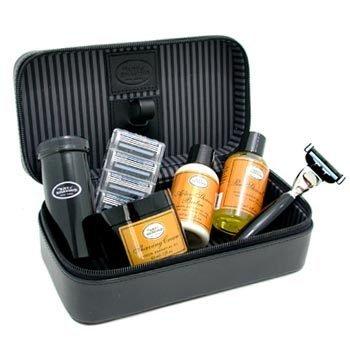 The Art Of Shaving-Travel Kit ( Lemon ): Razor + 4 Blades + Pre-Shave Oil + Shaving Cream + AS Balm + Shaving Brush