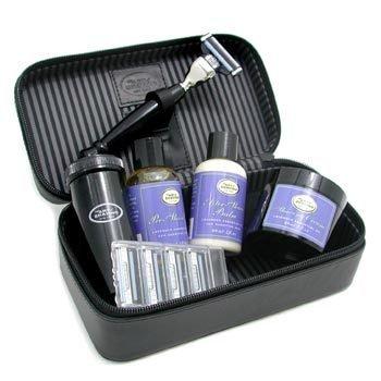 The Art Of Shaving-Travel Kit ( Lavender ): Razor + 4 Blades + Pre-Shave Oil + Shaving Crm + AS Balm + Shaving Brush