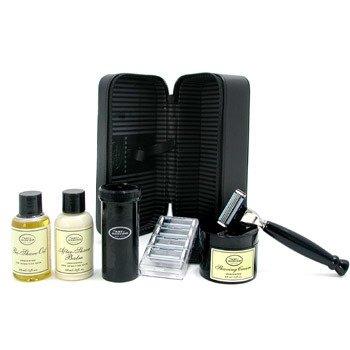 The Art Of Shaving-Travel Kit ( Unscented ): Razor + 4 Blades + Pre-Shave Oil + Shaving Cream + AS Balm + Shaving Brush