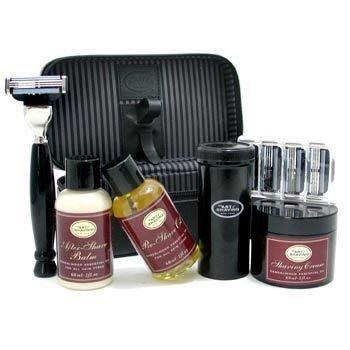 The Art Of Shaving-Travel Kit ( Sandalwood): Razor + 4 Blades + Pre-Shave Oil + Shaving Cream + AS Balm + Shaving Brush