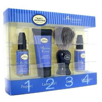 The Art Of Shaving-Starter Kit ( Lavender ): Pre Shave Oil + Shaving Cream + After Shave Balm + Shaving Brush