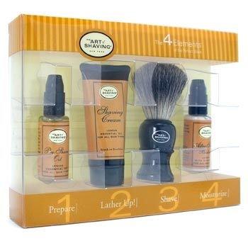 The Art Of Shaving-Starter Kit ( Lemon ): Pre Shave Oil + Shaving Cream + After Shave Balm + Shaving Brush