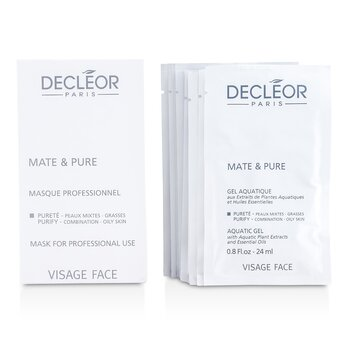 Decleor Mate & Pure Mask Vegetal Powder – Combination to Oily Skin (Salon Size) 10x5g