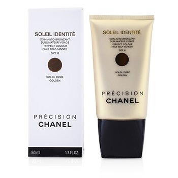ChanelPrecision Soleil Identite Perfect Colour Face Self Tanner/Auto Bronceador SPF8 - Dorado ( Oro  ) 50ml/1.7oz