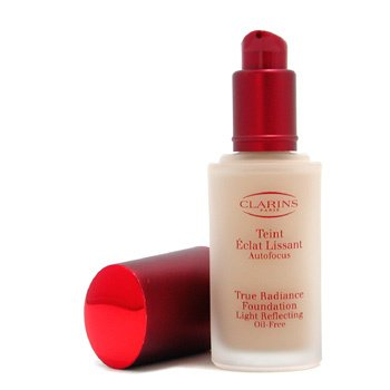 Clarins-True Radiance Foundation Light Reflecting Oil Free - #03 Clair Opale/ Soft Ivory