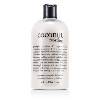 PhilosophyCoconut Frosting - Ultra Rich Shampoo, Shower Gel & Bubble Bath 473.1ml/16oz