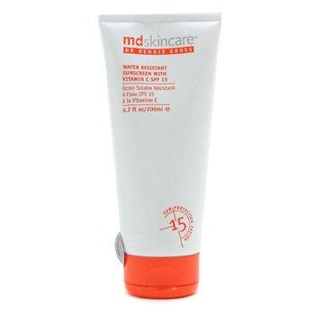 MD护肤 MD Skincare 维生素 C 防水防晒霜 SPF15 200ml/6.7oz