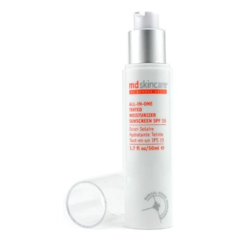 MD Skincare All-in-One Tinted Hidratante SPF 15 - Escuro  50ml/1.7oz