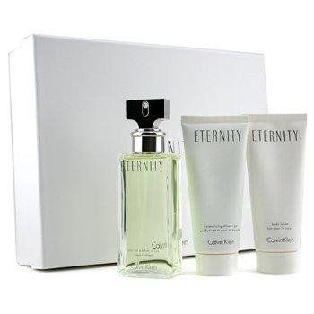 Calvin Klein-Eternity Coffret: Eau De Parfum Spray 100ml + Body Lotion 100ml + Shower Gel 100ml