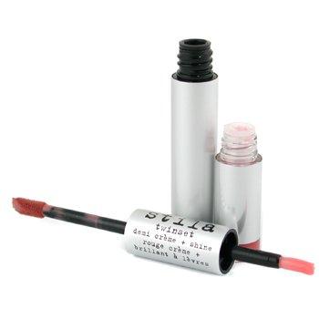 Stila-Twinset Demi Creme + Shine ( Dual Ended Creme & Gloss ) - # 10 Demi Rose