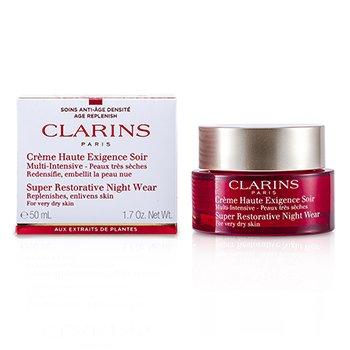 ClarinsCreme hidratante Super Restourative  noturno Wear ( p/ Pele muito seca ) 50ml/1.7oz