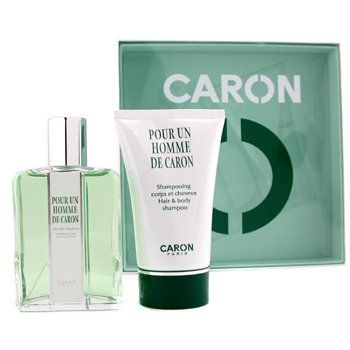 Caron Pour Un Homme Coffret: Eau De Toilette Spray 125ml+ Hair & Body Shampoo 125ml  2pcs