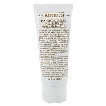 Kiehl'sPineapple Papaya Exfoliante Facial Con Extractos Reales de Fruta 100ml/3.4oz