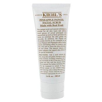 Kiehl's Pineapple Papaya Facial Scrub w/ Real Fruit Extracts - Pembersih  100ml/3.4oz