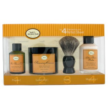 The Art Of Shaving-THE 4 ELEMENTS OF THE PERFECT SHAVE - LEMON ( Pre Shave Oil+ Shave Crm+ A/S Balm+ Brush )