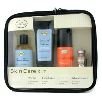 The Art Of Shaving-Skincare Kit ( For Sensitive Skin ): Facial Wash + Facial Scrub + Moisturizer + After Shave Mask