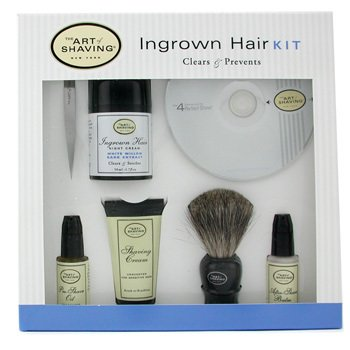 The Art Of Shaving-Ingrown Hair Kit: Pre-Shave Oil + Shaving Cream + After Shave Balm + Night Cream+Badger+Tweezer+DVD