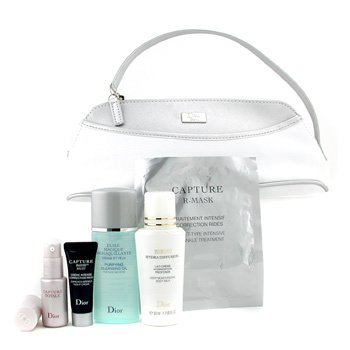 Christian Dior-Travel Set: Cleansing Oil + Night Crm + Capture Totale + R-Mask + Bikini B/M + Bag