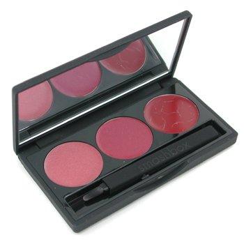 Smashbox-Lip Brilliance - SkyBox ( Shimmer Rose/ Creamy Fuchsia/ Creamy Deep Red )