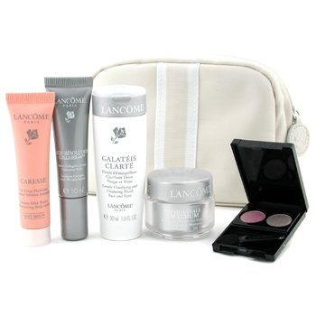 Lancome-Travel Set: Clarte Galeteis 50ml + Day Cream 15ml + Serum 10ml + Body Lotion 15ml + Eyeshadow + Bag