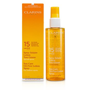 Clarins Sun Care Spray Oil-Free Lotion Progressive Tanning SPF 15 (For Outdoor Sports) 150ml/5.1oz