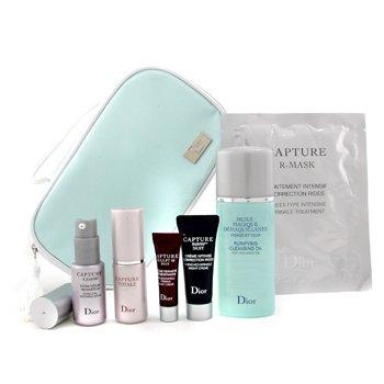 Christian Dior-Travel Set: Cleansing Oil+C.T.Serum+R60/80 Serum+C.T. Night Cr.+R60/80 Night Cr.+Mask+Bag