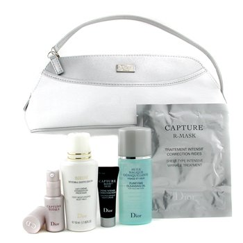 Christian Dior-Travel Set: Clns Oil 50ml + Capture Totale 10ml + Night Crm 10ml + Body Milk 50ml + R-Mask + Bag