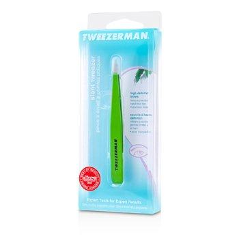Tweezerman-Slant Tweezer - Green Apple
