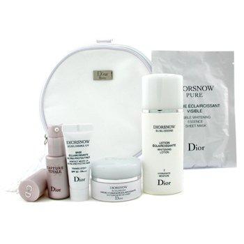 Christian Dior-Travel Set: Lotion 50ml + Cream 15ml + Serum 10ml + Mask 1pc + UV Base 10ml + Bag