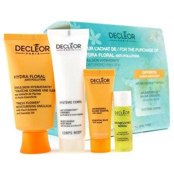 Decleor-Travel Set: Hydra Floral Moist. Emulsion 50ml + Balm 5ml + Concentrate 5ml + Body Milk 30ml