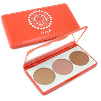 Fresh-Here Comes The Sun Face Palette ( Bronzing Face Luster & Blush Powder Set )